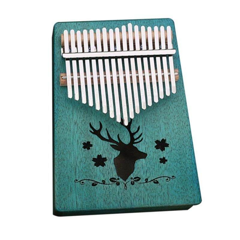 OSMAN 17 Key Kalimba Veneer Mahogany Thumb Piano Natural Keyboard Musical Instrument Malaysia