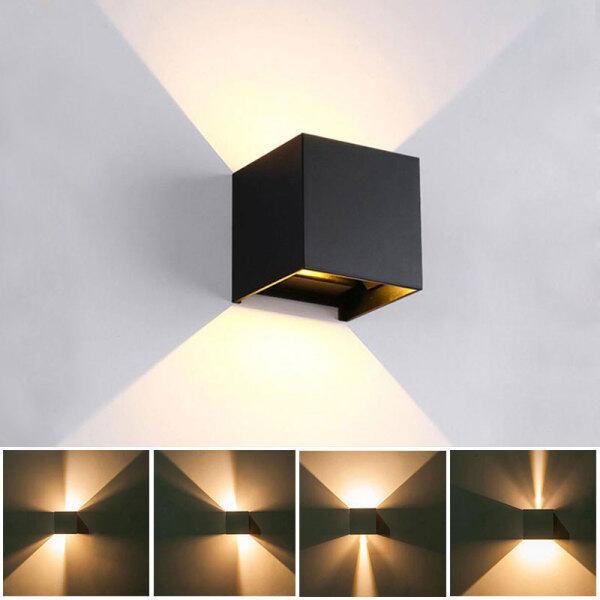 Bảng giá Đèn Tường LED 12W, Đèn Chống Nước Outdoo Trong Nhà Khối Lập Phương Thiết Kế Góc Chùm Điều Chỉnh IP65 Đèn LED Treo Tường Sân Hiên Phòng Ngủ