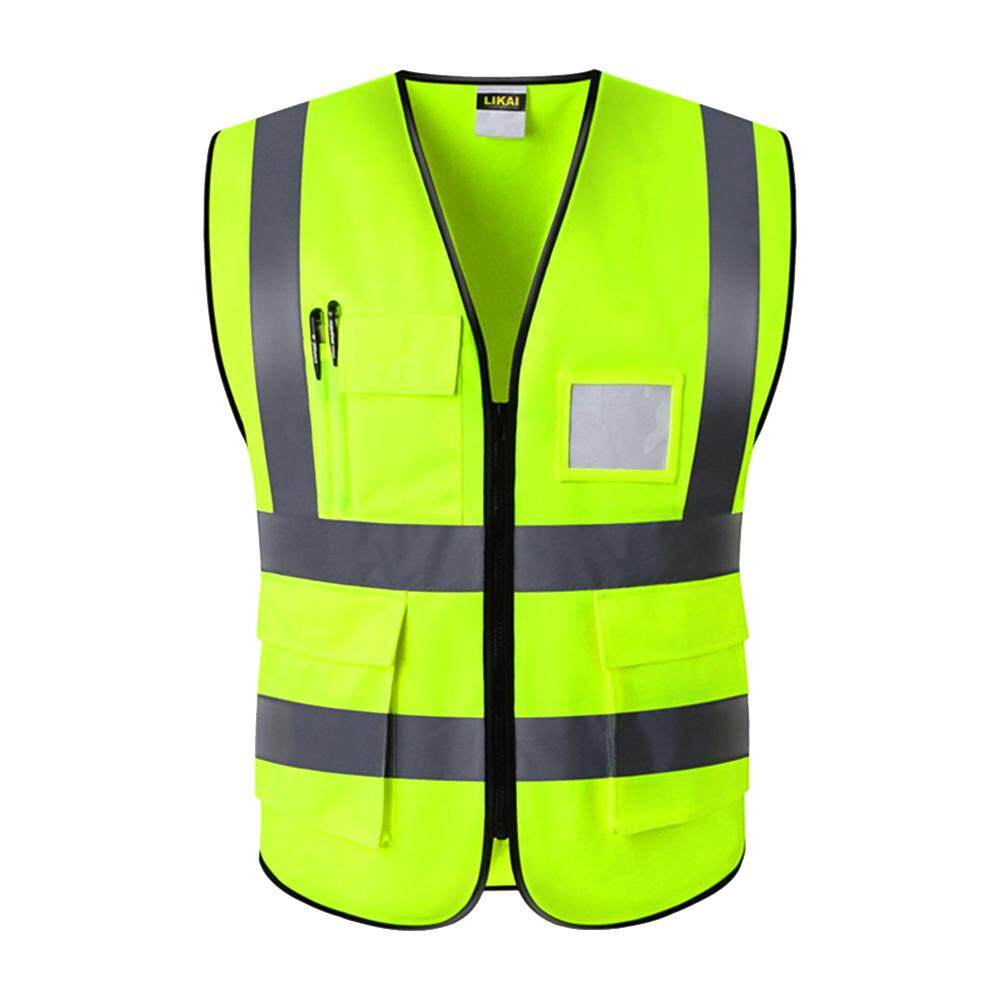 Multi Pocket Night Construction High Visibility Worker Waterproof Wear Resistant Reflective Protection Safety Vest