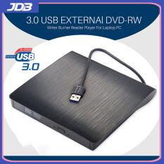 JDB Ổ Ghi DVD RW CD Gắn Ngoài Mỏng USB 3.0 Tiện Dụng Đầu Đọc Đầu Đọc Ổ Đĩa Quang Cho Máy Tính Xách Tay PC Dvd Burner Dvd Portatil