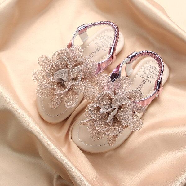 Giá bán Giày búp bê huadoaka cho bé gái xăng đan họa tiết hoa màu trơn đi hàng ngày