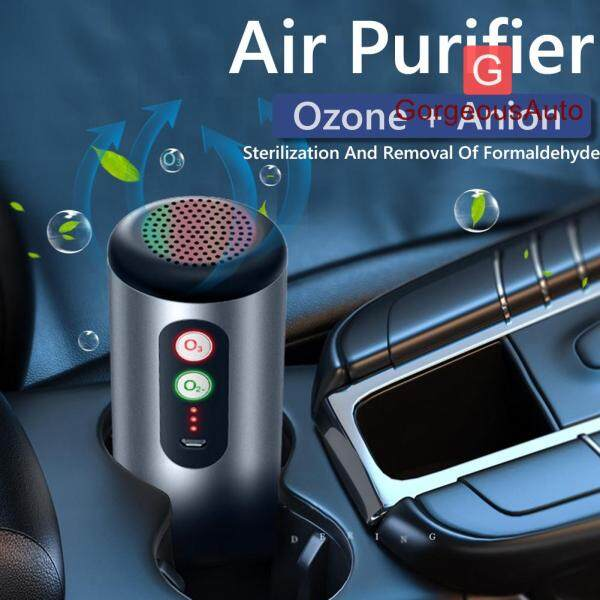 Car Air Purifier USB Rechargeable Anti Bacterial Odor Eliminator Air Freshener Singapore