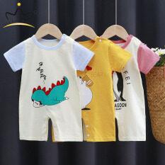 Áo liền quần I LOVE DADDY & Mummy cho bé, áo liền quần một mảnh ngắn tay cho trẻ em mùa hè
