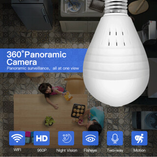 Winstong Camera IP Ẩn Bóng Đèn Wifi 360 HD 2 Trong 1 Đèn LED An Ninh Gia Đình Toàn Cảnh, Camera CCTV Vương Quốc Anh thumbnail