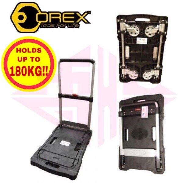 OREX PVC FOLDABLE HAND TROLLEY / TRUCK KERETA TOLAK (BLACK) 180 KGS TROLI