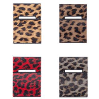 New Leopard Print Cigarett Case 20 Sticks Creative Magnetic Flip Shell Portable Protective Leather Box Trendy Brand thumbnail