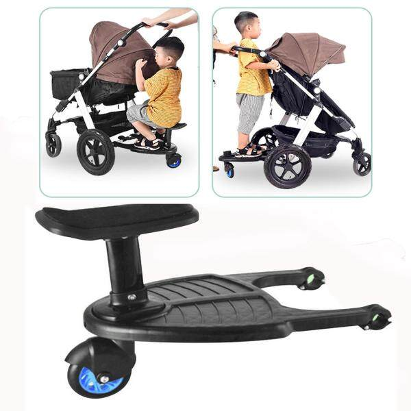 Stroller Auxiliary Pedal Wheeled Board Stroller Ride on Board with Detachable Seat Singapore