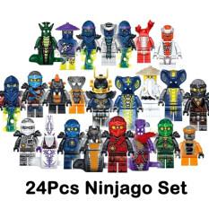 Bộ Đồ Chơi Thời Trang Ninjago Mini 24 Nhân Vật, Đồ Chơi Khối Xây Dựng Chủ Nhân Kai Jay Sensei Wu
