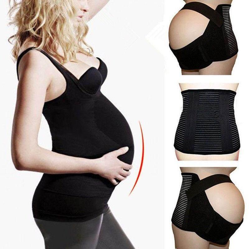 Maternity Pregnancy Belt Lumbar Back Support Waist Band Belly Bump Brace By Aabb-Shop.