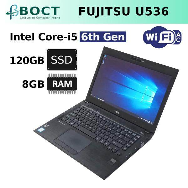 Fujitsu LifeBook U536 / Optional 240GB SSD or PCIe NVMe / Intel Core i5 6th Gen / 13.3 inches HD screen / Up to 16GB RAM  / Windows 10 Pro (Refurbished) Malaysia