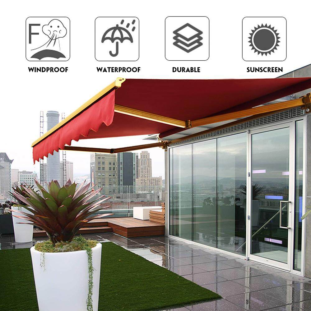 2.5*2m Garden Patio Awning Sun Shade Shelter Cover Canopy Replacement Fabric Outdoor