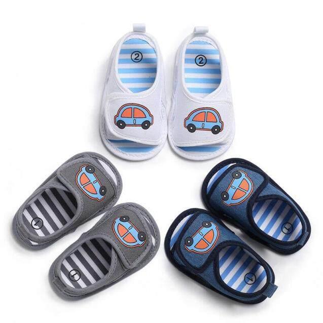 Trẻ Sơ Sinh Bé Trai Cô Gái Dễ Thương Mềm Đế Cũi Trẻ Mới Biết Đi Mùa Hè Prewalker Sandals Giày giá rẻ