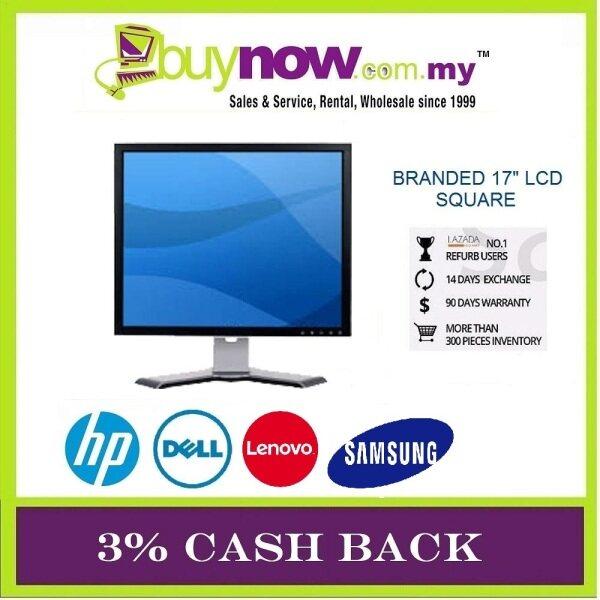 HP / DELL / SAMSUNG / LENOVO / LCD Monitor 17 Grade B / 1280 x 1024 Resolution / 1 Months Warranty (Factory Refurbished) Malaysia