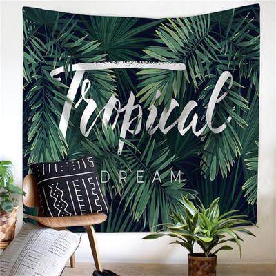 Northern Europe Fashion Dacron Printed Japanese Banana Leaf Cloth Tapestry Wall Decorative Cloth Background Cloth Sofa Cover Tablecloth