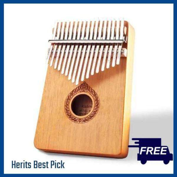 HERITS HOT ITEM Classic 17-Key Wooden Acoustic Thumb Piano Kalimba Mbira Exquisite Workmanship for Beginners Students (Orange) Malaysia