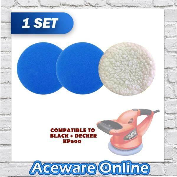BLACK + DECKER 74603 Multipack Blue & White Waxing / Polishing Pad FOR BLACK + DECKER KP600