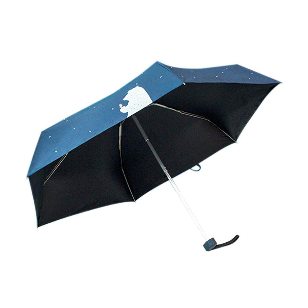 Hot Deals Cute Bear Sun-Rain Umbrella Five Folding 6 Stainless Steel Ribs Umbrella