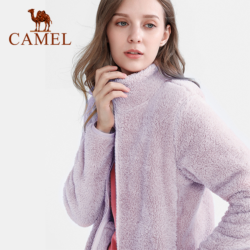 Cameljeans Áo Khoác Lông Cừu Và Nhung Cho Nữ Áo Khoác Dài Tay Ấm Áp Mùa Thu Đông Cho Nữ