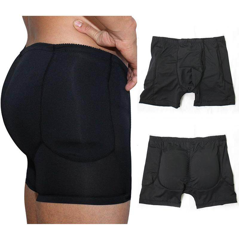 364ce9d22 Men s Padded Sexy Underpants Boxers Underwear Control Body Shapers Butt  Enhancers Men Shorts