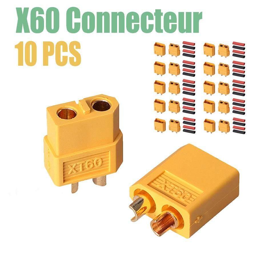 10 cặp XT-60 XT60 Nam Nữ Đầu Kết Nối RC Lipo Bịt Ổ Điện & Nhiệt