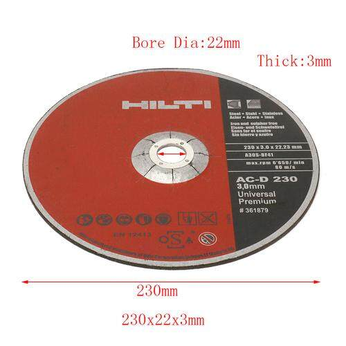 9 Inch 230 mm Resin Cutting Wheel Disc Metal & Stainless Steel Cut-Off Wheel For Rotary Tool With 7/8 Arbor