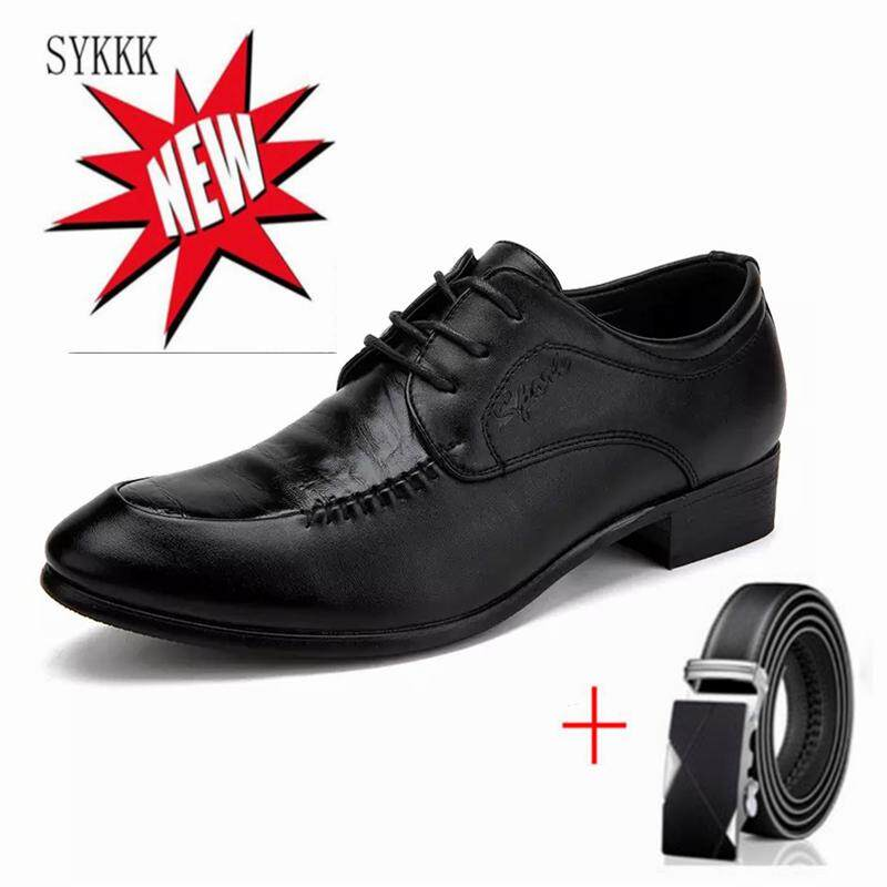 dccbcad224c SYKKK kasut formal Derby for men dress shoes PU leather men Formal shoes  toe shoes wedding