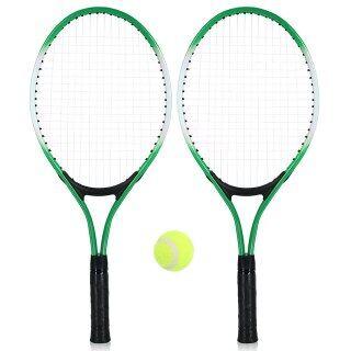 2 Vợt Tennis Tập Vợt Bài Tập Luyện Quần Vợt Trẻ Em Thanh Thiếu Niên Với Bóng Tennis Và Túi Bọc thumbnail