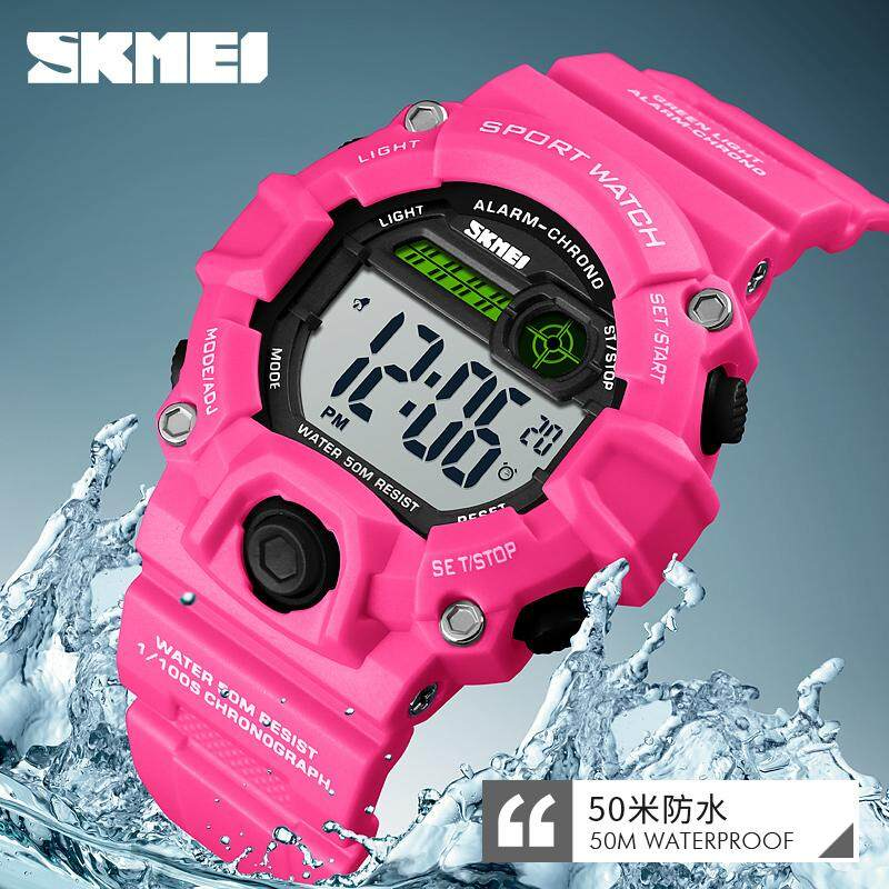 SKMEI New Kids Sports Watch Girls Children Watches Multifunction Alarm LED Digital Waterproof Boys Wristwatches 1484 Malaysia