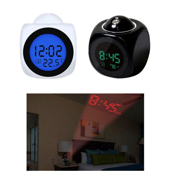 Nơi bán Đồng Hồ Báo Thức Chiếu LED Kỹ Thuật Số LCD Hiển Thị Giọng Nói Snooze Đồng Hồ Treo Tường LED Nhiệt Độ Đồng Hồ Báo Thức Chiếu Đa Năng