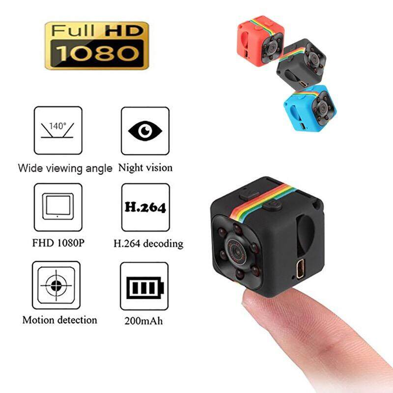 Sport HD Mini Hidden Camera Portable 1920P/1080P & Motion Detection &Night  Vision Perfect Indoor Covert Security Camera for Car, Drone, Office