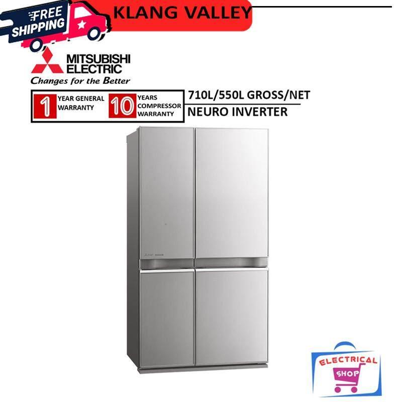 Mitsubishi Fridge MR-L78EN-GSL 710L L4 Grande 4 Doors Refrigerator MRL78ENGSL (Glass Stellar Silver)