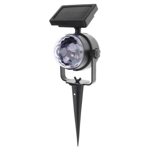 Solar Colorful Rotating LED Projection Light Garden Lawn Lamp Outdoor Bulb