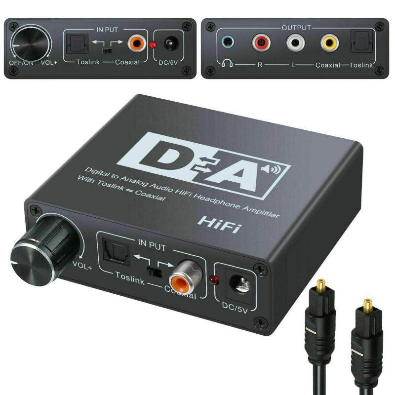 niceEshop 192kHz Digital Optical Coaxial Toslink to Analog RCA L/R 3.5mm Audio Converter Singapore