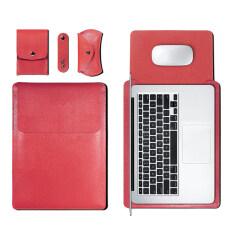 11 13 15 Inch Siêu Mỏng Túi Đựng Máy Tính Xách Tay Chất Liệu Da PU Kinh Doanh Vỏ Đựng Bìa Đa Chức Năng Cho Macbook Air Pro Máy Tính Xách Tay