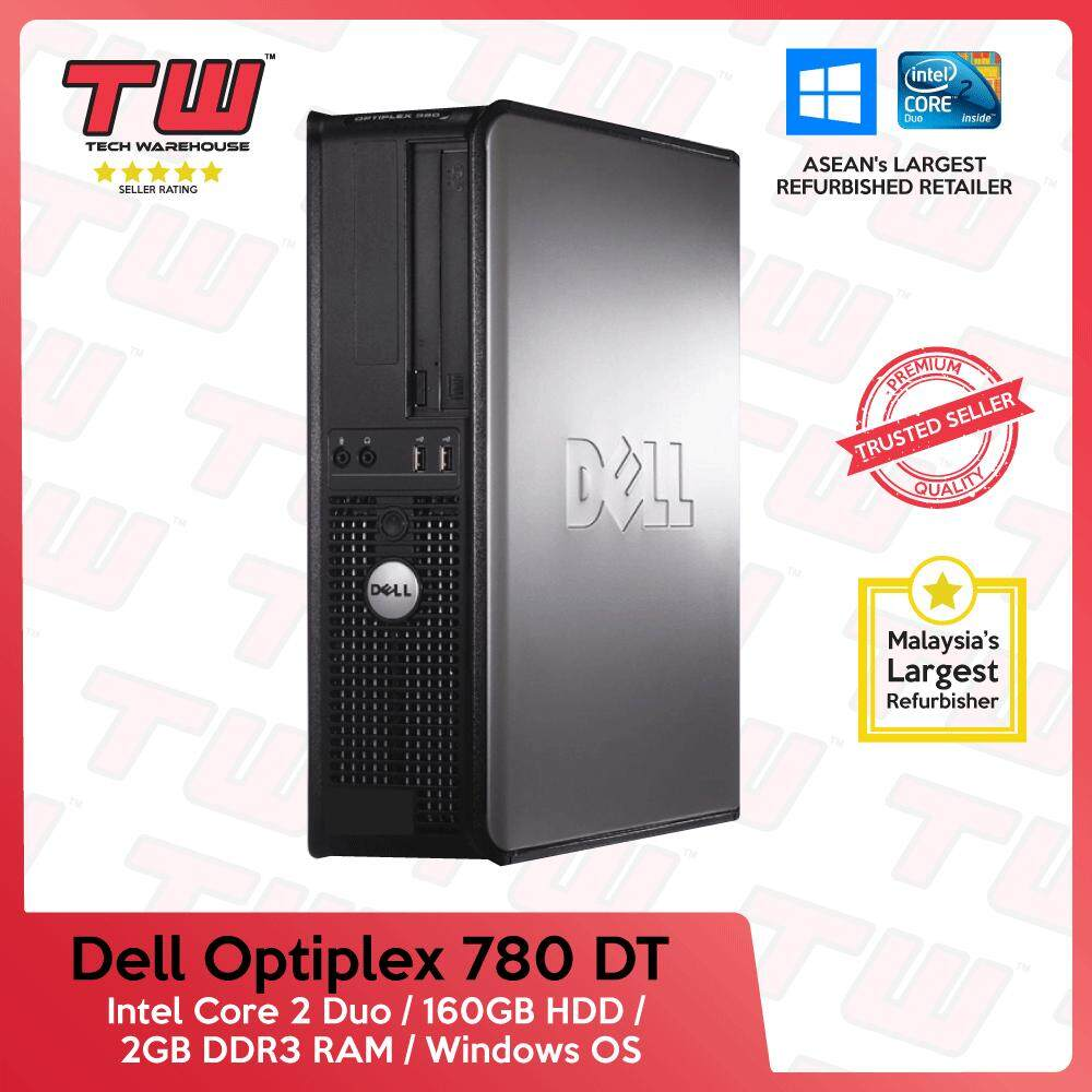 Dell Optiplex 780 C2d / 2gb Ram / 160 Gb Hdd / Windows Os (dt) Desktop Pc / 3 Month Warranty (factory Refurbished) (factory Refurbished) (special Offer) By Tech Warehouse.