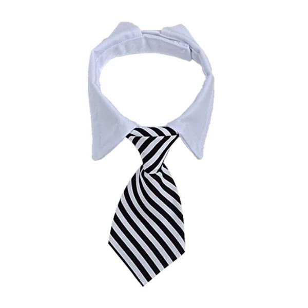 2 Chiếc Tie Byy Khăn Nước Bow Outlet Cổ Áo Giả Cổ Tie Pet Khăn Nhà Máy Đường Viền Cổ Áo Dog Bib Sọc