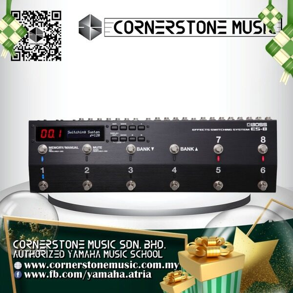 Boss Guitar Multi Effect Processor ES-8 ( ES8 / ES 8 ) Programmable Effects Switching System - B / Black Cornerstone Music Malaysia