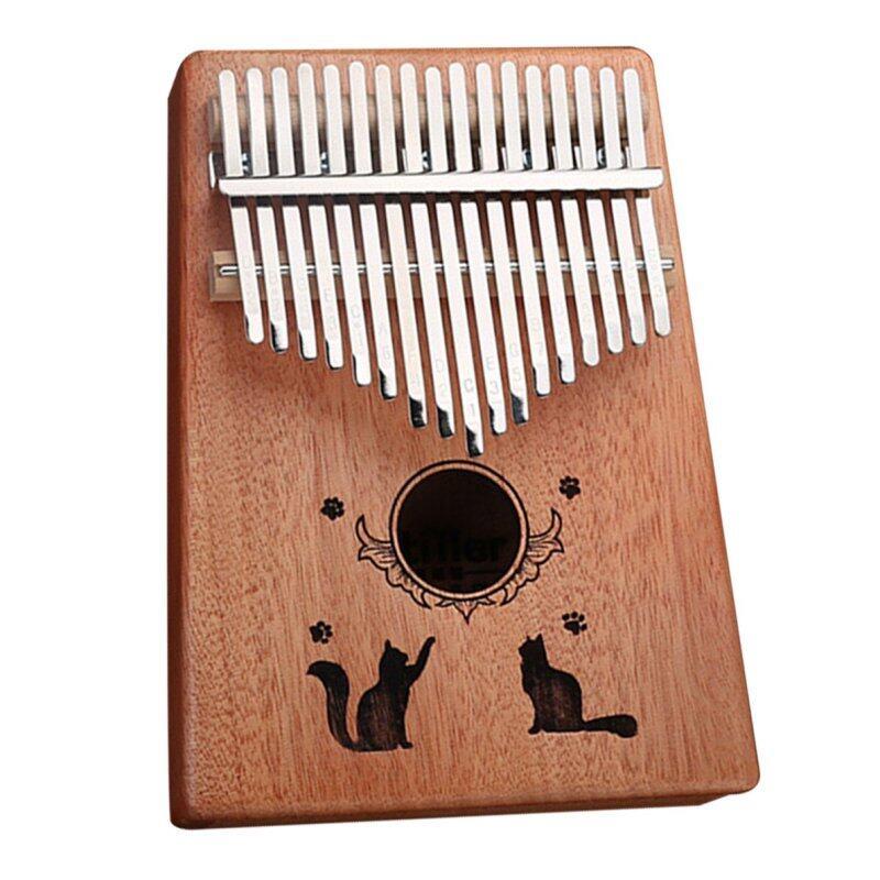 Top Bán 17 Phím Ngón Tay Cái Đàn Piano C Trẻ Em Chiếu Sáng Kalimba 10 Nút Châu Phi Bỏ Túi