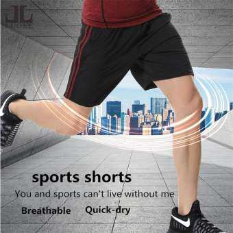 Luoke กางเกงกีฬาขาสั้นกางเกงขายาวผู้ชายแห้งเร็วเพาะกายกางเกงกีฬาสตรีการฝึกอบรมฟิตเนสกางเกงสีขาว-