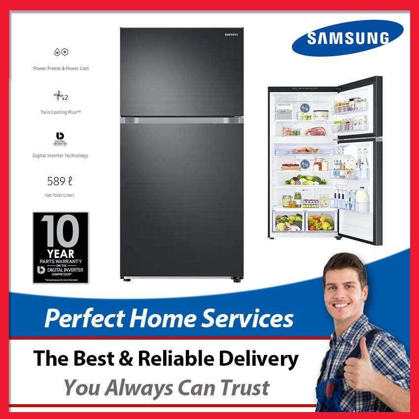 Samsung New 589L (RT21M6211SG) Digital Inverter Fridge with Twin Cooling Plus, Express Direct Shipping Within Klang Valley