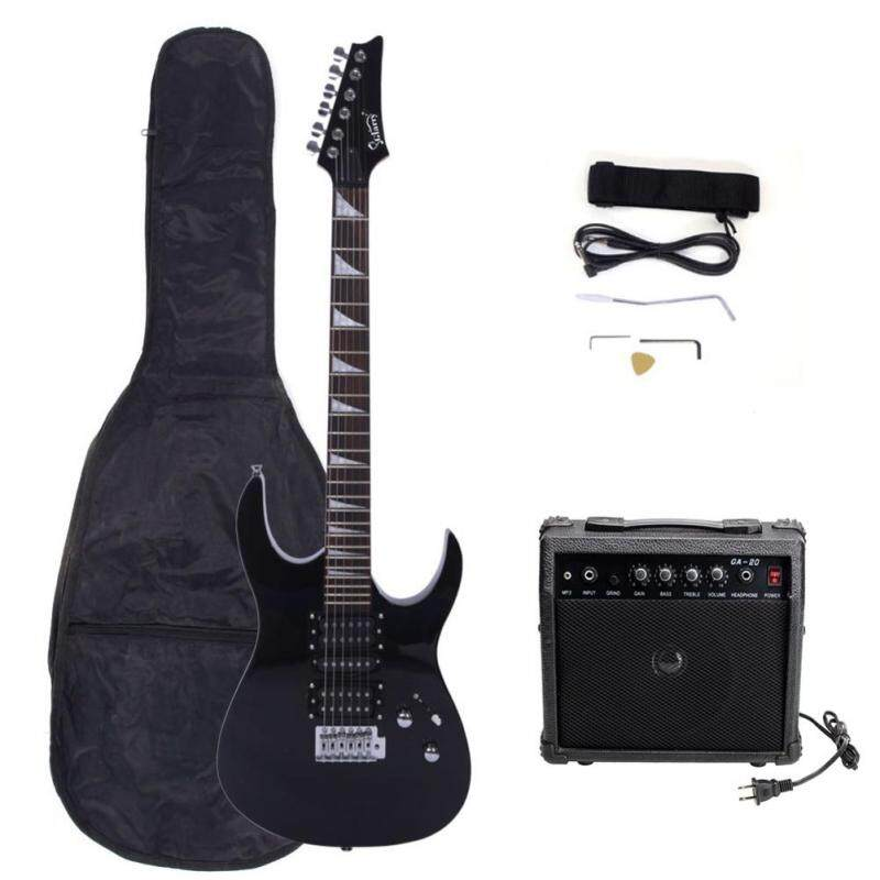 24 Frets Electric Guitar Kit 170 Type Electric Guitar+Audio+Bag+Strap+Paddle+Rocker+Cable+Wrench Tool Musical Instruments Set Malaysia