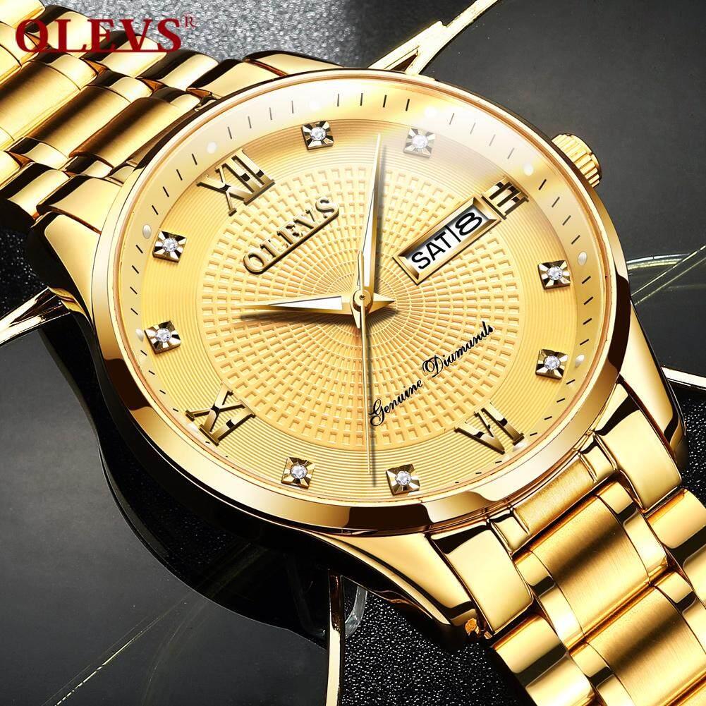 Nơi bán OLEVS Nam Đồng hồ Cổ Điển gốc lịch ngày chống nước Kinh Doanh vàng Đồng hồ tự động cơ đồng hồ Giá Rẻ