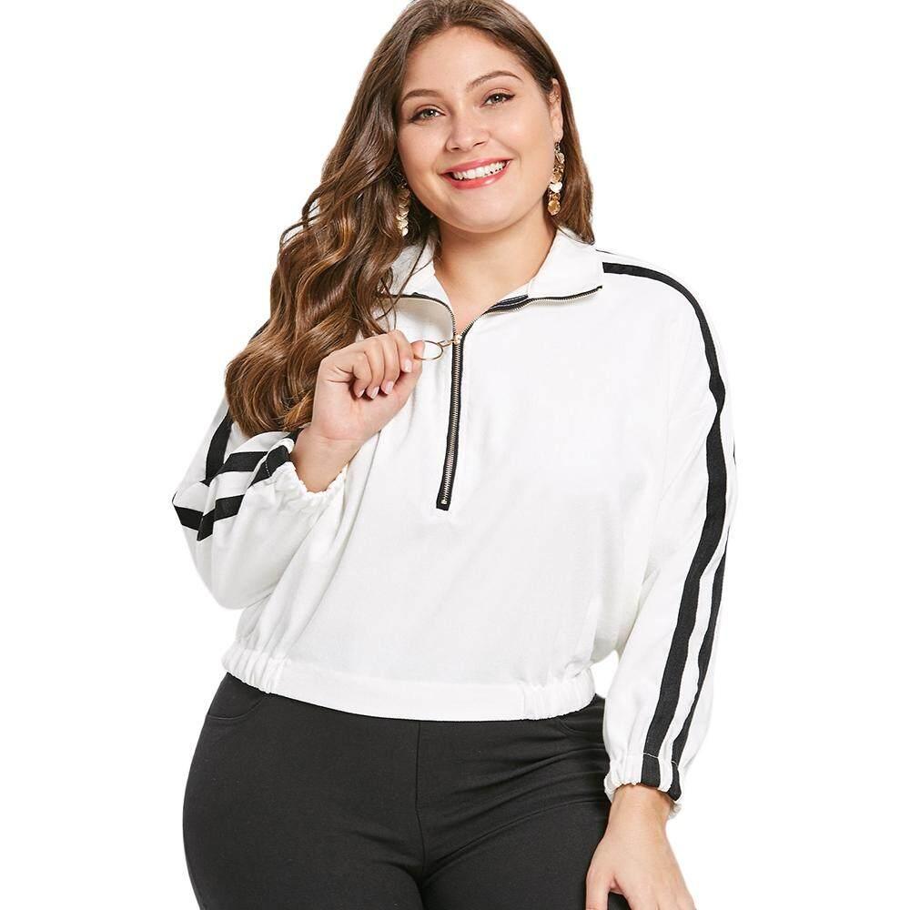 Plus Size Half Zip Long Sleeve Jacket (SIZE:3X) LB01-313749103