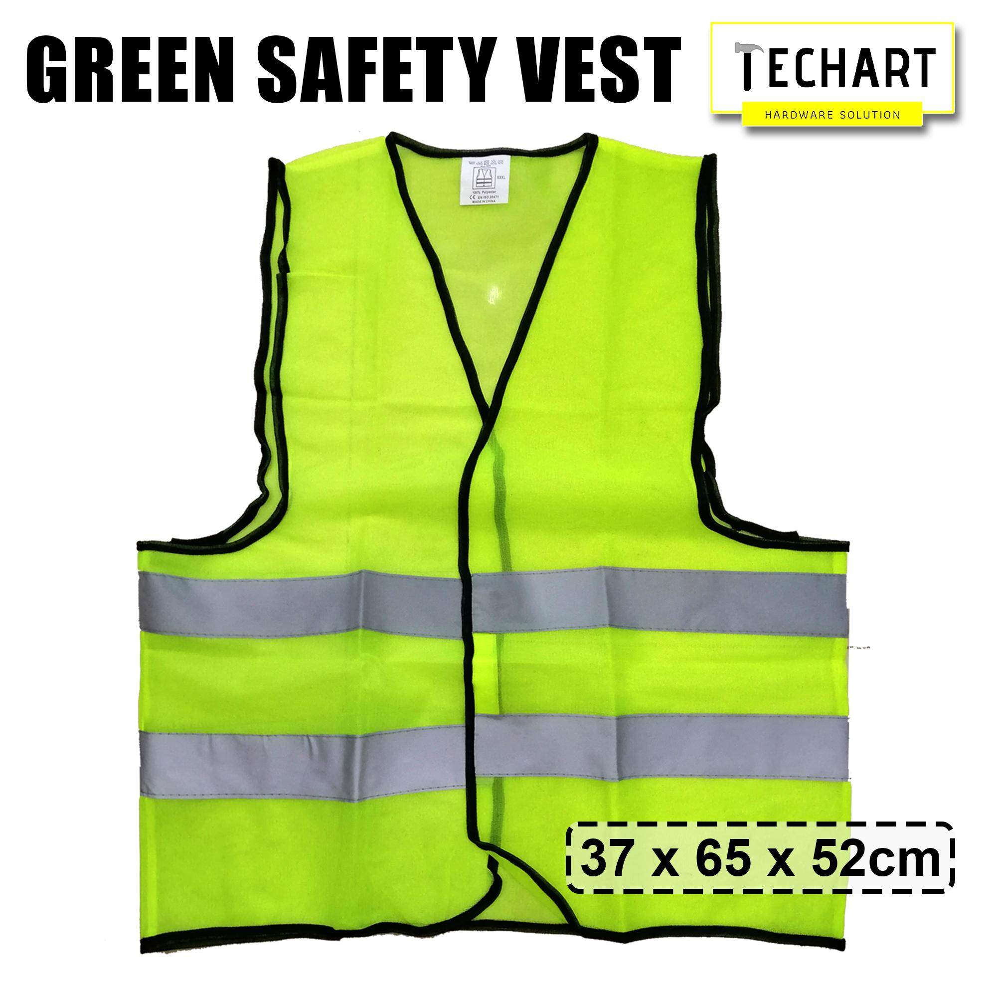 Safety Vest Visibility Security Traffic Enclosure with Velcro Stick-On Pad Polyster Safety Vest
