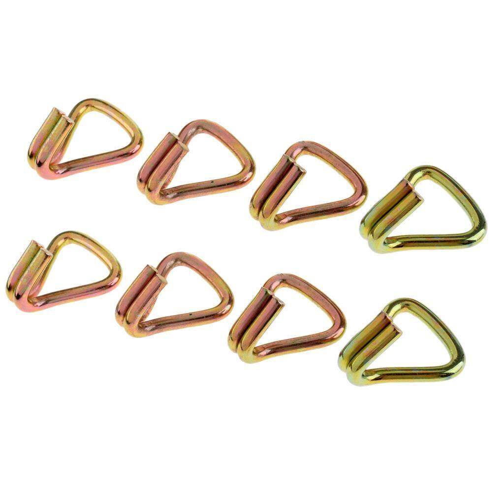 BolehDeals 8 Pieces Heavy Duty Ratchet Double J Hook for 1 25mm Tie Down Strap Webbing