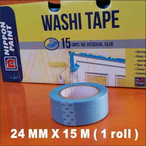 NIPPON PAINT WASHI TAPE FOR PAINTING ( 24MM X 15M ) - NIPPON PAINT BRAND / TEAR EASILY / STRONG ADHESIVE /15 DAY NO RESIDUAL GLUE / painter tape / painting tape / Painting Decorating / High-quality tape
