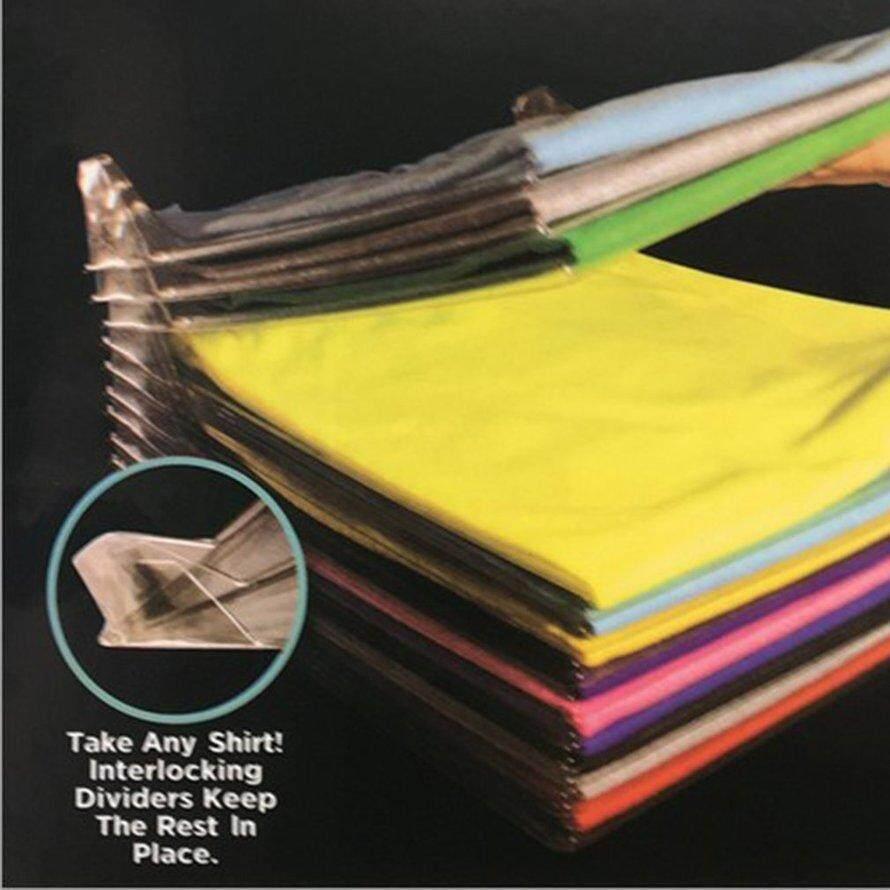 OSMAN 10pcs Home Convenient Multifunctional Clothes Folder T-Shirt Polo Adult Clothes Garment Clothes Organizing Folding Board