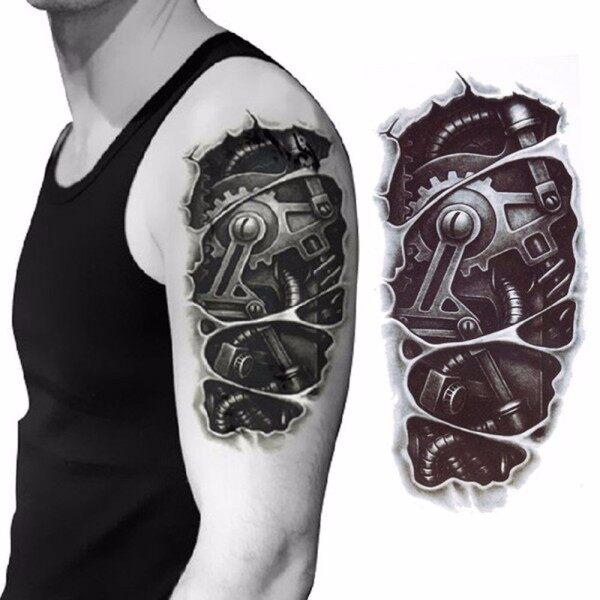 Tạm Thời Nut Không Thấm Nước Tay Buộc Cơ Khí Sticker Tattoo Body giá rẻ