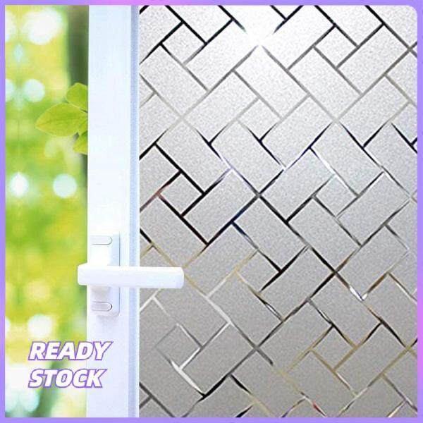 Privacy Window Film Glass Film Frosted Window Film for Rental Room Home Office Anti UV/Heat Insulation