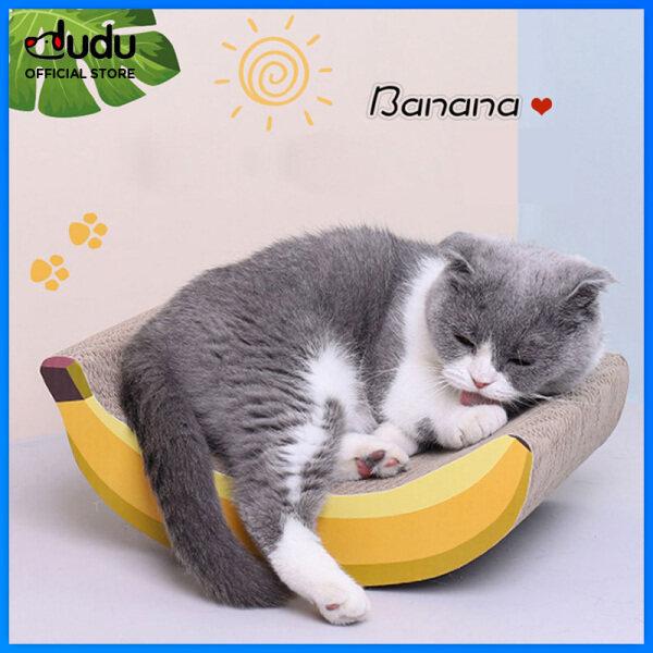 【DUDU Pet】giấy Gợn Sóng Hình Quả Chuối Thú Cưng, Mèo Ban Đầu, Mài Claw Đồ Chơi Bảng Cào Thú Cưng Bền Hai Mặt Nệm Mèo Đồ Chơi